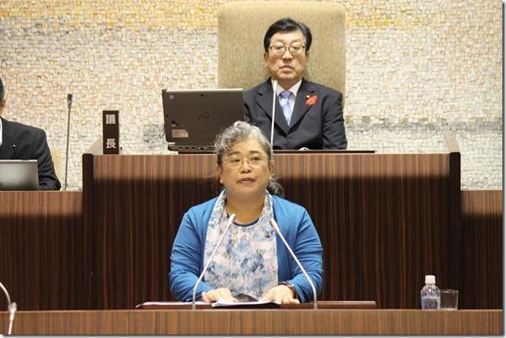 10月7日、決算の反対討論IMG_4703